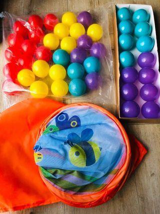 Bru Soft Slided Ball Pit W/ 45 Balls