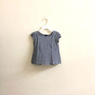 Baby Gap striped off back top