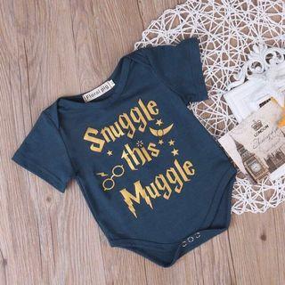 🚚 [NB] Snuggle this muggle baby romper