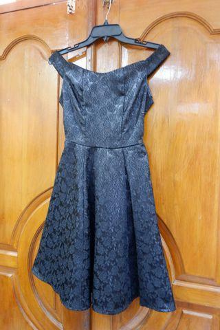 Sabrina midi flare jaguard dress