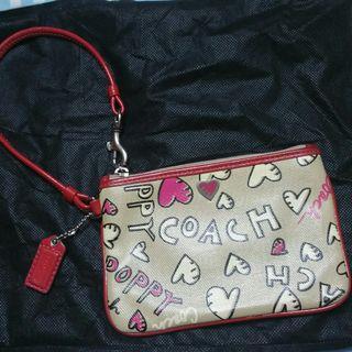 🚚 Nice! Coach Poppy Wristlet Pouch Purse waller