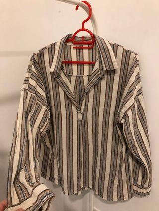 Vintage stripe blouse