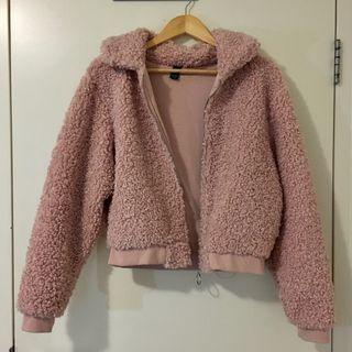 Factories fluffy jacket in pink