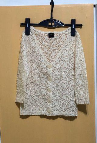 日本高貴彈性Lace小外套