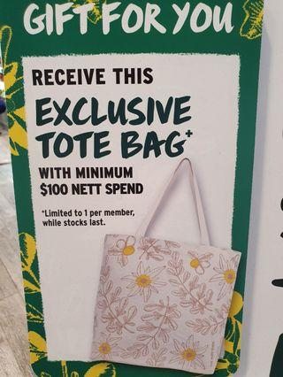 The Body Shop Natural Canvas Tote Bag