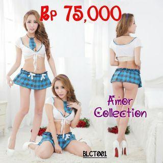 Lingerie seksi kostum pelajar -BLCT001- By AMORCOLLECTION