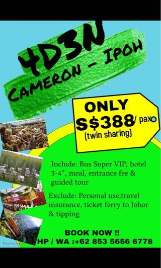 🚚 4 day 3 Night Cameroon/Ipoh