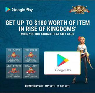 Google Play Credit @ 5% off!