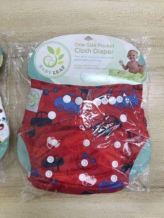🚚 Reusable Diapers Babyleaf One Size Boy Girl Unisex Car Animals Newborn S M L
