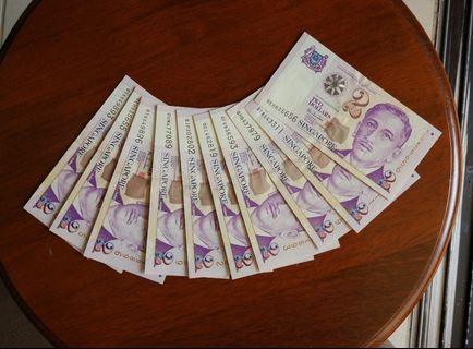 $2 paper  10 pcs lot HTT