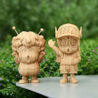 全新東映限量全球200隻木製 figure IQ博士 小雲小吉有獨立編號木盒包裝 制作精美