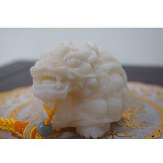 Feng Shui Dragon turtle (Giant Clam) 玉化砗磲龙龟手把件