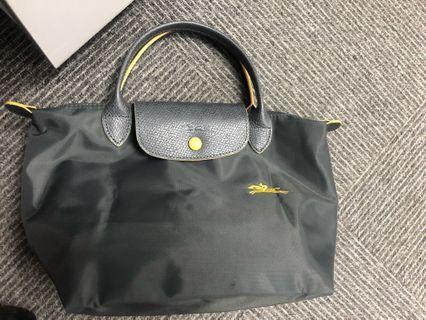 Longchamp Darkgrey/yellow logo S size