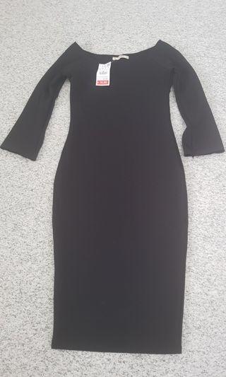 Pull & Bear Black bodycon dress