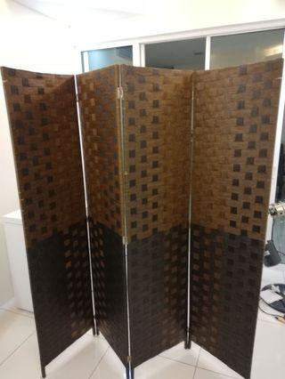 Partition room divider folding screen