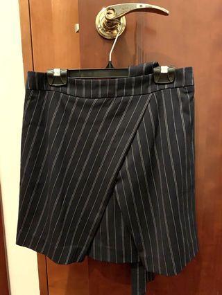 Banana Republic Navy Striped Skirt