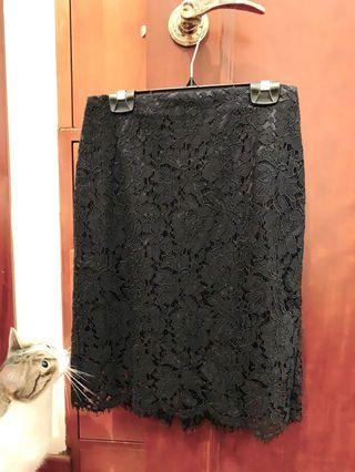 Banana Republic Black Lace Skirt