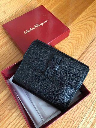 Salvatore Ferragamo Wallet - Genuine Leather with Box