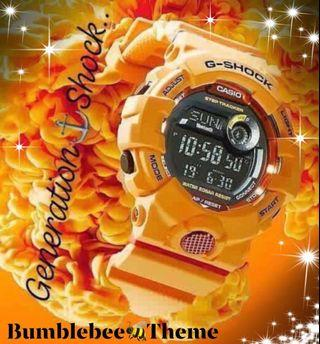 BUMBLEBEE🐝THEME in GSHOCK DIVER SPORTS WATCH : 100% ORIGINAL AUTHENTIC G-SHOCK STEP-TRACKER WIRELESS BLUETOOTH SMARTPHONE ANDROID LINK: Best For Most Rough Users & Unisex : GBD-800-4ADR / GBD800-4 / GBD-800-4 / GBD800-4A / CASIO / GSHOCK / WATCH