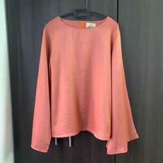 Batwing Blouse in Peach