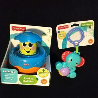 Fisher Price toys / ball / rattles