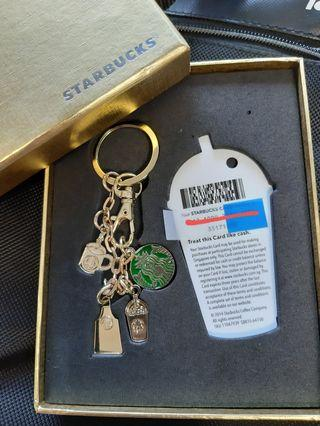 Starbucks Gold keychain charm and Apron - collectibles / limited edition