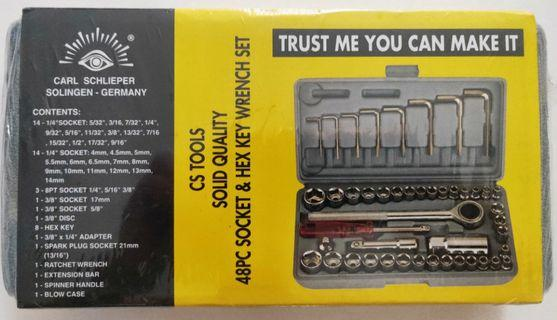 Socket and Hex Key Wrench Set