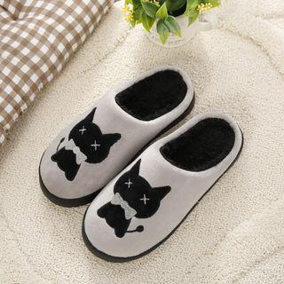 readystock grey black cute cat indoor sandals shoe