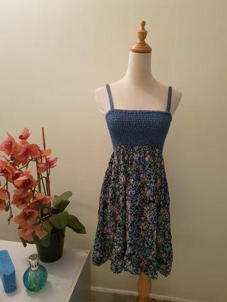 Denim and Floral Dress