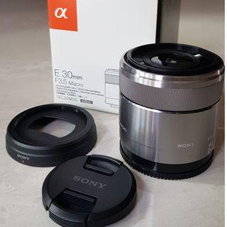 Sony E 30mm F3.5 Macro (for APS-C)
