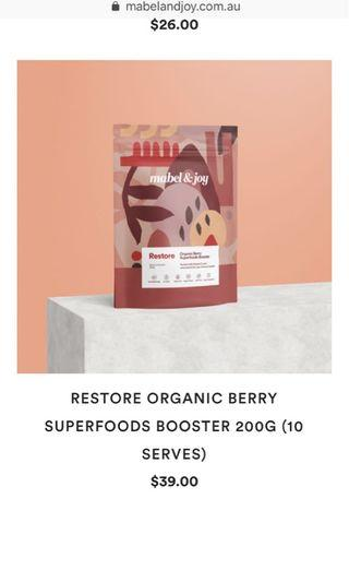 Mabel and joy superfoods