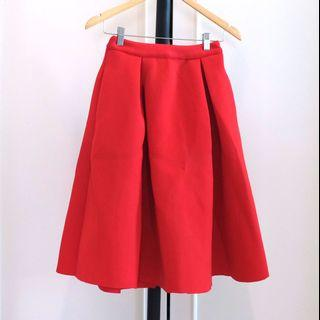 Zalora red skirt