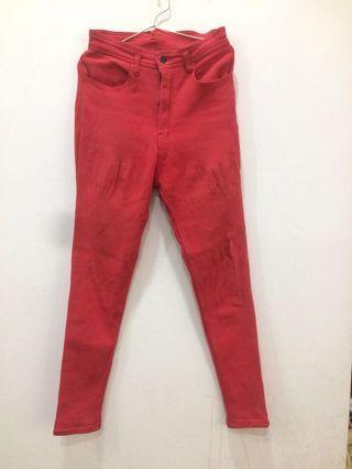 Red highwaist soft jeans stretch