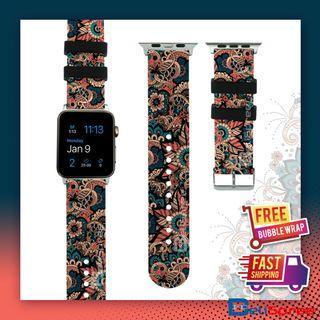Brand New Batik Indo Custom Design Batik Series TPU Wrist Strap Apple Watch Band 38mm 42mm for iWatch Series 4 3 2 1
