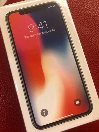 全新未拆iPhone X 256G