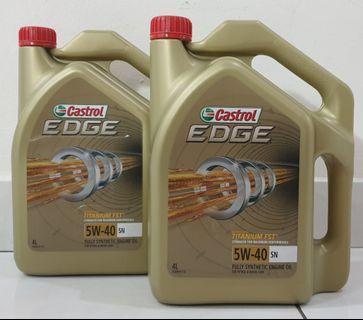2 bottles Castrol Edge Fully Synthetic Engine Oil