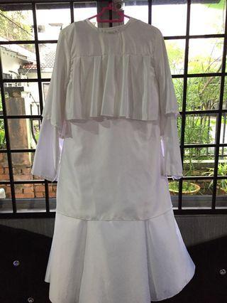 White Satin Baju Kurung