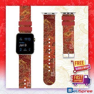 Brand New Batik Dragon Custom Design Batik Series TPU Wrist Strap Apple Watch Band 38mm 42mm for iWatch Series 4 3 2 1