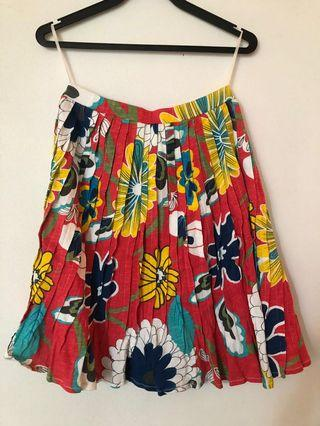 Flynow floral pleated skirt