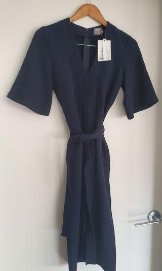 BNWT ASOS navy work midi pencil dress - Sz 6/8