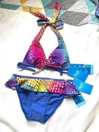 Bikini 👙 Swimsuit swimwear 全新未剪牌 Sloggi 星星女裝泳衣 可換墊 三點式