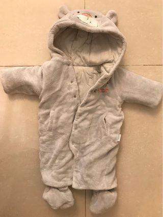 Mides BB 冬天body suit (腳套可拆)3個月大著