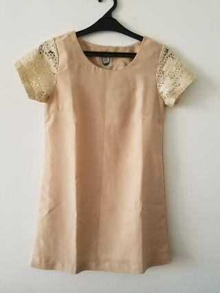 beige dress #mauvivo #ramadansale