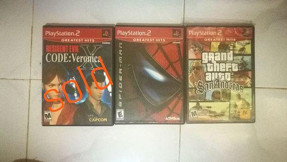 PS2 Games US version