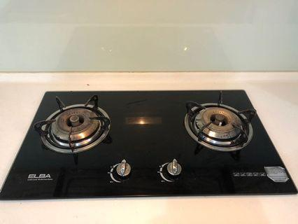 Classy ELBA cooker hod with tempered glass finishing top