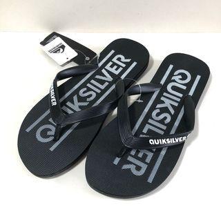 Man's 男生夾腳拖鞋 QUIKSILVER 澳洲海灘鞋 US8,US9(MOLOKI WORDMARK 人字夾腳拖鞋-黑色)