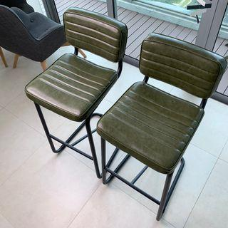 Bar Chair (Olive Green)