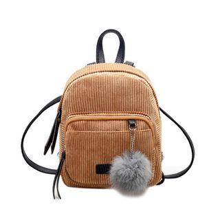Pompom Ball Mini Backpack for Women