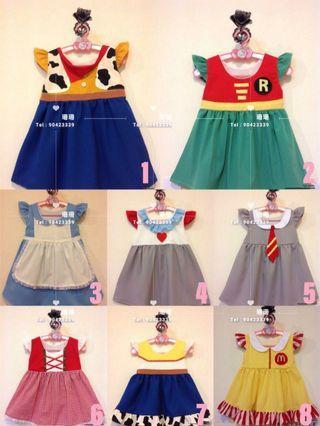 🇹🇭 泰國全人手製造 👉🏻多款公主卡通造型裙仔