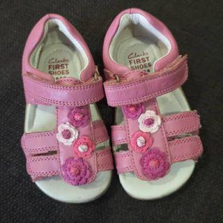 Clarks Baby Softly Rio First Walking Shoes